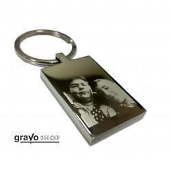 Metalic engraved key ring
